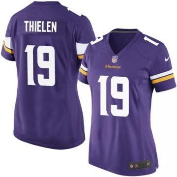 Adam Thielen Minnesota Vikings Women's Purple Game Team Color Jersey
