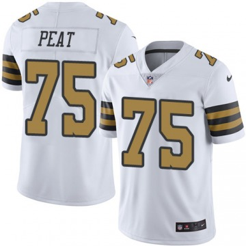 Andrus Peat New Orleans Saints Men's White Limited Color Rush Jersey